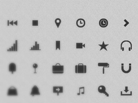 Free CSS3 Monochrome Icon Set (85+)