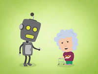 Grandma And Robot