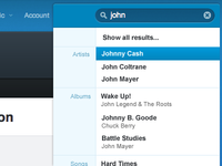 Rdio Search Concept