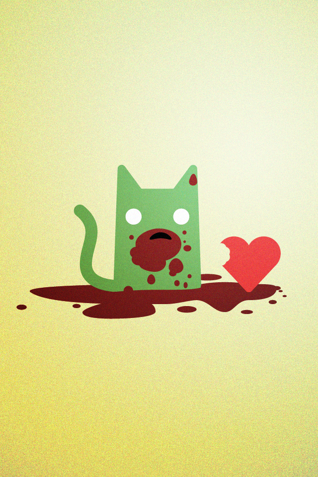 Zombie Cat Loves V-Day