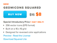 Geomicons Squared is out. 50% off today only.