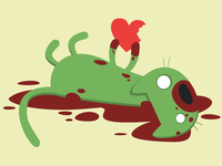 Zombie Kitten Wants Your Heart