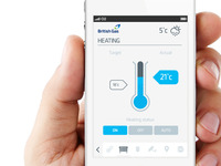Remote heating UI concept