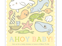 Ahoy Baby Shower Invite