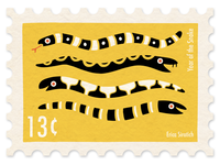 Year of the Snake Stamp