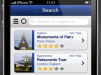 iPhone App Search View