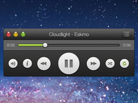 Spotify mini desktop player - minimized