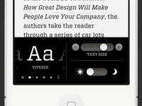 Readability on iPhone