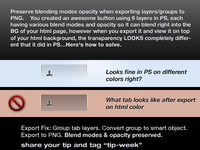 Fix Blend Modes Transparent PNG Export w/PS