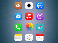 iOS 7 Icons (Redesigned)