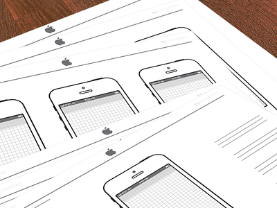 Download iPhone Sketch Template