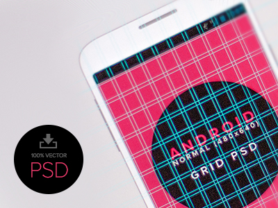 Download Android Design Grid Template PSD