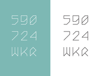 Monospace type design in progress