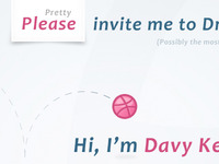 Please invite me to Dribbble
