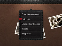 Black Leather Menu
