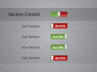 Section Status Control