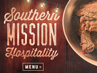 Southern restaurant website