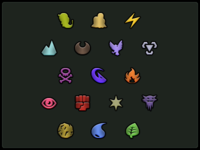 Pokedex type icons