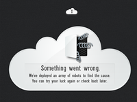 Cloud Error Message