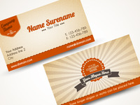 Playing with old-style business card