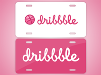 Dribbble Car Tag