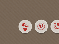 Pinterest Sticker Icons