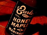 Earls Honey Maple Marinade Bottle