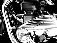 Triumph Bonneville Screen Print