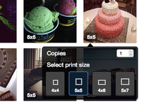 Photo Print Size Button (UI)