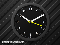 Clock Rendered with CSS (No Images)