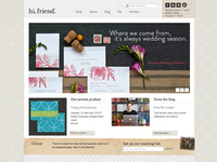hi, friend design website redesign