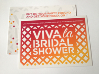 Fiesta Bridal Shower Invitation, printed!