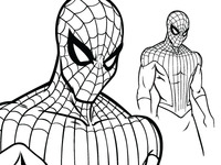 Spiderman Inking Phase
