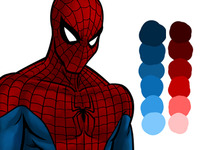 Spiderman Colouring Phase 2