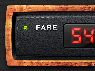 Taximeter for an iPhone app by Vladimir Popov on Dribbble