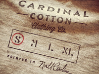 Cardinal Cotton inside tag stamp