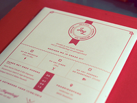 Wedding Invitation Design (for letterpress)