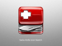 Swiss Knife Icon Sketch