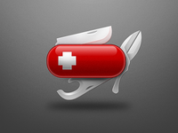 Swiss knife Illustration
