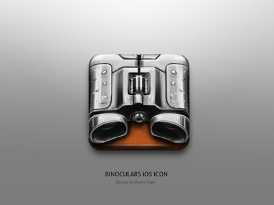 Binoculars iOS Icon Sketch