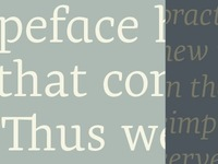 Forthcoming typeface launched soon by Typofonderie