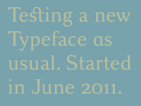 Serif typeface started in June 2011