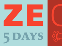 Ze Offer, 5 days, 5 typefaces