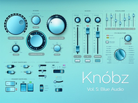Knóbz Vol.5: Blue Audio UI Kit