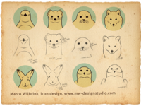 Icon Design Arctic Animals