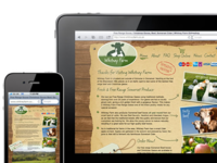 Web Design Online shop for Local Farm