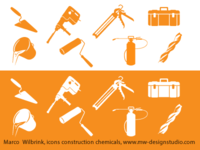 Icon Design Construction Chemicals Related