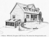 Douglas Lake House Pencil Drawing
