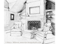 Interior Pencil Drawing