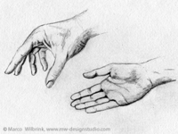Hands Pencil Drawing